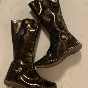Little Girl Size 1.5 Primigi Brown Patent Boot